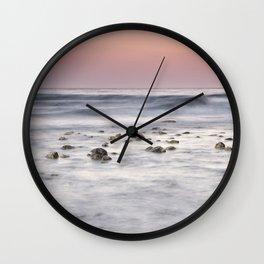 Mediterranean sea at sunrise. Marbella. Spain Wall Clock