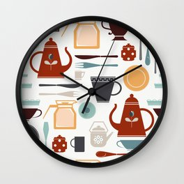 Tea and coffee serving set Wall Clock