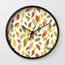 All Colors of Fall Minimalism, Simple Colorful Abstract Contemporary Pattern Wall Clock