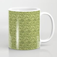 Green Zig-Zag Knit Mug
