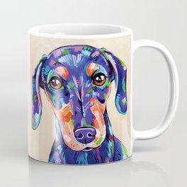 Peanut - Daschund Sausage Dog Art Coffee Mug