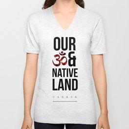 Om and Native Land Unisex V-Neck
