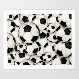 Dirty Balls - footballs Art Print