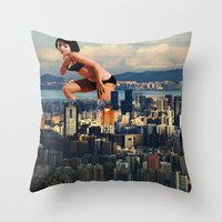 thrones Throw Pillows featuring I lost my light by Laura Nadeszhda