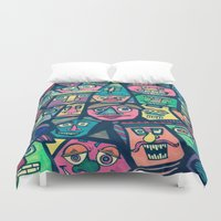 faces Duvet Covers featuring Faces  by Jess D'Angelo