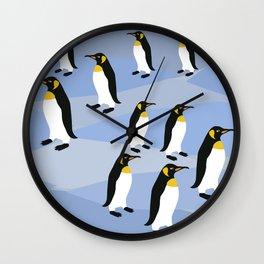 Emporior Penguins Of Antarctica, King Penguins Wall Clock