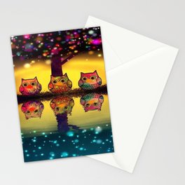 owl 43 Stationery Cards