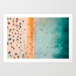 Large Aerial Beach Print, Printable Beach Art, Beach Wave Art, Aerial Beach Photography, Coastal Art, Ocean Print, Modern Art Art Print