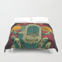 hero Duvet Covers featuring :::Unlikely hero::: by Ilias Sounas