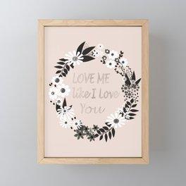 Love me . Framed Mini Art Print