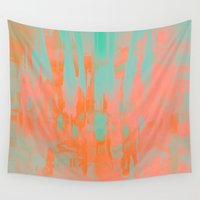 carousel Wall Tapestries featuring Carousel by Denise Medina