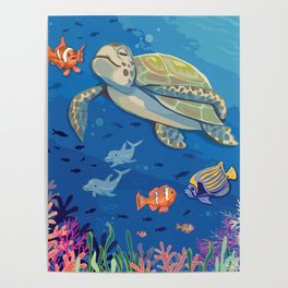 Under the Sea and Above the Coral Poster