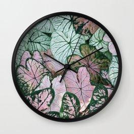 Coleus Leaves Wall Clock