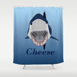 Shark Selfie Say Cheese Shower Curtain