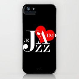 I Love Jazz iPhone Case