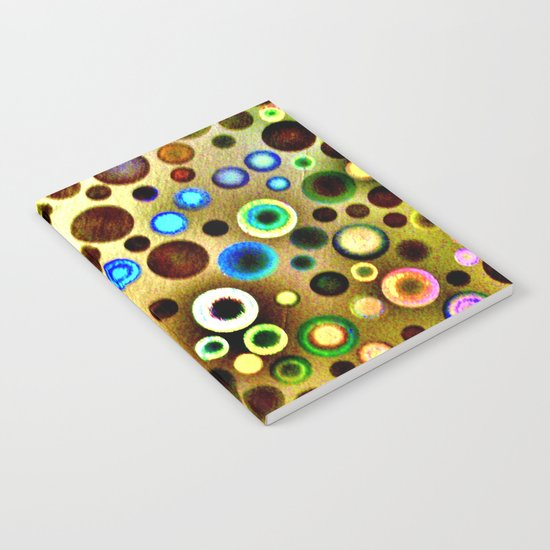 Colourful circles pattern Notebook