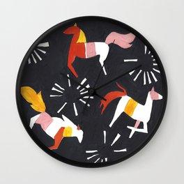 Summer Horses Wall Clock