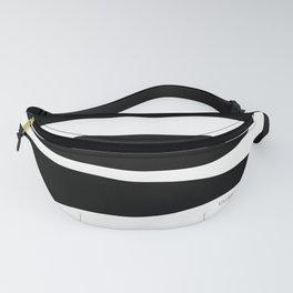 Irregular Stripes Black White Waves Art Design Fanny Pack