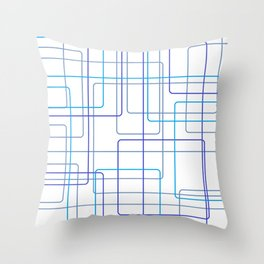 Blue Line Pattern Throw Pillow