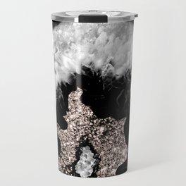 Gray Black White Agate Glitter Glamor #5 #gem #decor #art #society6 Travel Mug