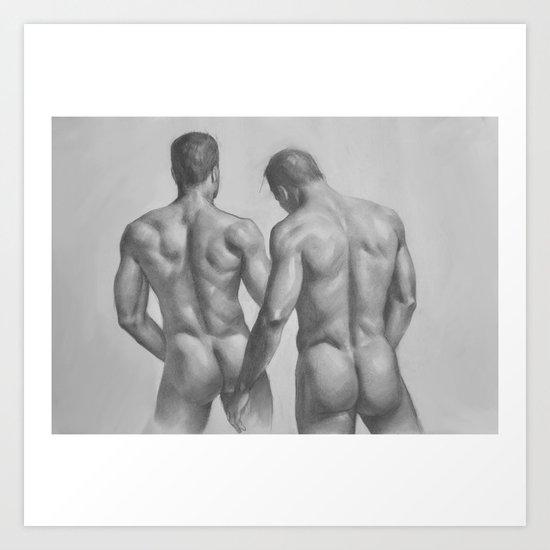 2 men Art Print