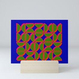 green semi circles Mini Art Print