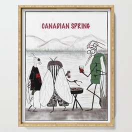 Canadian Spring Serving Tray