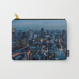 Osaka -  Umeda -  Panorama -  City -  Cityscape -  Skyline - Vintage illustration. Retro décor. Carry-All Pouch