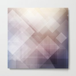 Grey Abstract Geometric Design Pattern Metal Print