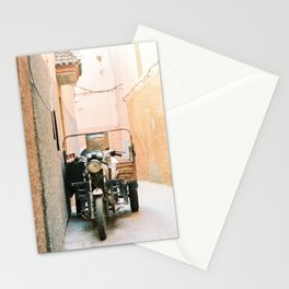 Vintage retro scooter / moped in the streets of magical Marrakech Stationery Cards