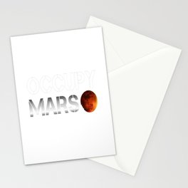 Occupy Mars SpaceX Elon Musk Stationery Cards