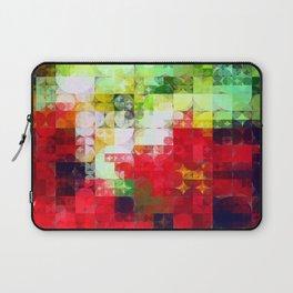 Mixed Color Poinsettias 2 Abstract Circles 2 Laptop Sleeve