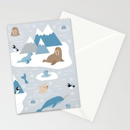 Arctic animals Stationery Cards