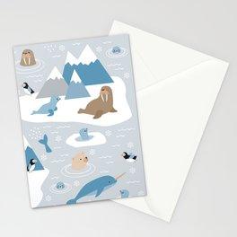 Arctic animals Stationery Cards