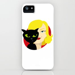 Cat lady Marylin iPhone Case