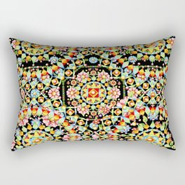 Flower Crown Bohemian Rectangular Pillow