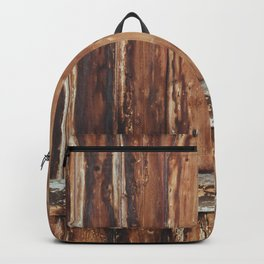 Aged Wooden Fence Backpack