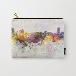 Birmingham AL skyline in watercolor background Carry-All Pouch