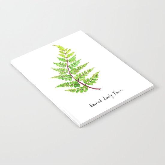 Eared Lady Fern Notebook