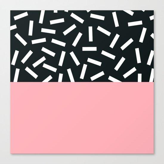 Memphis pattern 24 Canvas Print