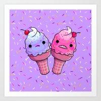 Super Emotional Icecream Art Print
