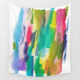 180812 Abstract Watercolour Expressionism 5  Colorful Abstract   Modern Watercolor Art Wall Tapestry