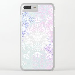 Spring Mandala on Concrete Clear iPhone Case