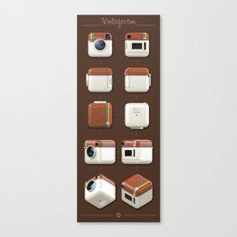 Instagram Orthographic Camera Canvas Print