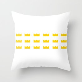 King Crowns Throw Pillow