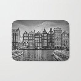 AMSTERDAM Damrak and dancing houses Bath Mat