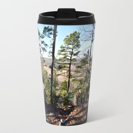 Climbing Up Sparrowhawk Mountain above the Illinois River, No. 1 of 8 Travel Mug