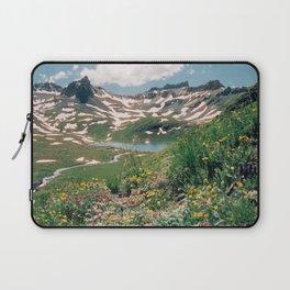Summer Lake Wildflowers Laptop Sleeve