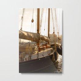 yacht in the port of Monaco Metal Print