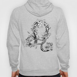 lion black and white zodiac sign Hoody